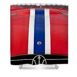 1956 Maserati 350 S Shower Curtain by Jill Reger