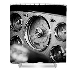 1956 Packard Caribbean Dashboard Shower Curtain by Sebastian Musial