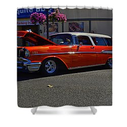 1957 Belair Wagon Shower Curtain