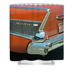 1957 Chevy Belair Shower Curtain