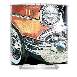 1957 Chevy Shower Curtain by Steve McKinzie