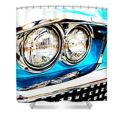 Shower Curtain featuring the digital art 1958 Buick by Tony Cooper