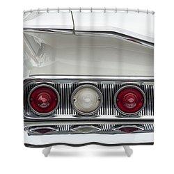 1960 Chevrolet Impala Tail Lights Shower Curtain by Jill Reger
