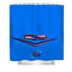 1960 Chevy Bel Air Trunk Emblem Shower Curtain