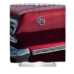1963 Chevrolet Impala Ss Taillight Shower Curtain by Jill Reger