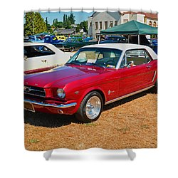 Shower Curtain featuring the photograph 1964 Ford Mustang by Tikvah's Hope