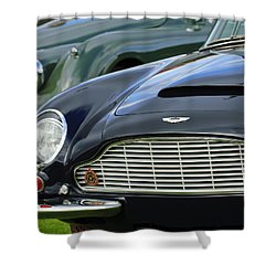 1965 Aston Martin Db6 Short Chassis Volante Shower Curtain by Jill Reger