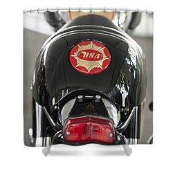 1966 Bsa 650 A-65 Spitfire Lightning Clubman Motorcycle Shower Curtain by Jill Reger