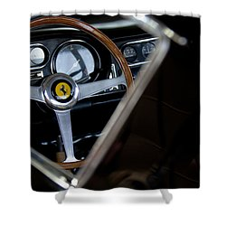 1967 Ferrari 275 Gtb 4 Steering Wheel Emblem Shower Curtain by Jill Reger