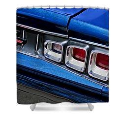 1968 Dodge Coronet Rt Hemi Convertible Taillight Emblem Shower Curtain by Jill Reger