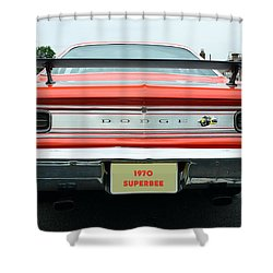 1970 Dodge Coronet Super Bee Shower Curtain by Paul Ward