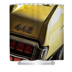 1972 Oldsmobile 442 Shower Curtain by Gordon Dean II