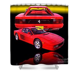 1990 Ferrari Testarossa Shower Curtain