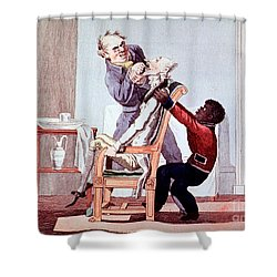 19th Century Dentistry Tooth Extraction Shower Curtain by Science Source
