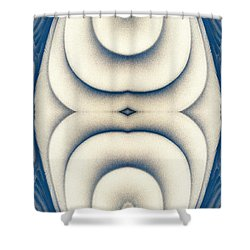Shower Curtain featuring the digital art  Art Abstract by Odon Czintos