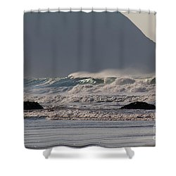 Porthtowan Cornwall Shower Curtain by Brian Roscorla