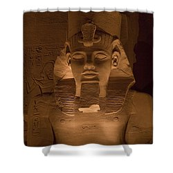 A Close View Of Ramses IIs Temple Shower Curtain by Taylor S. Kennedy