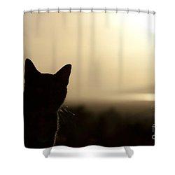 A Pure Soul Shower Curtain by Sharon Mau