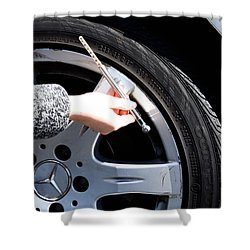 Air Pressure Gauge Shower Curtain by Photo Researchers