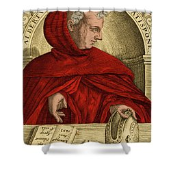 Albertus Magnus, Medieval Philosopher Shower Curtain by Science Source