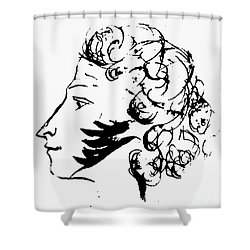 Aleksandr Pushkin Shower Curtain by Granger
