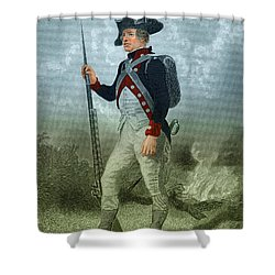 American Continental Soldier Shower Curtain by Photo Researchers