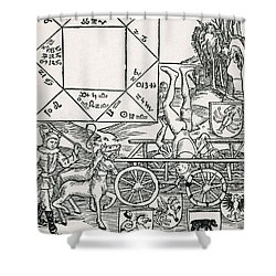 Astrology Shower Curtain by Science Source
