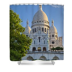 Basilique Du Sacre Coeur Shower Curtain by Brian Jannsen