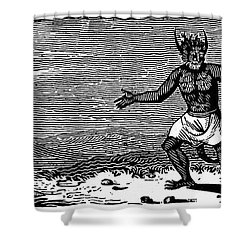 Bewick: Devil Shower Curtain by Granger