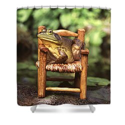 Bullfrog Shower Curtain by Kenneth H Thomas and Photo Researchers
