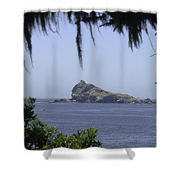 Shower Curtain featuring the photograph Castle Rock by Betty Depee