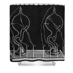 Cathode Ray Tubes Shower Curtain by Science Source