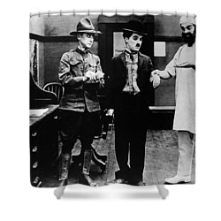 Chaplin: Shoulder Arms Shower Curtain by Granger
