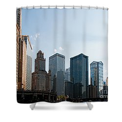 Chicago City Center Shower Curtain by Carol Ailles