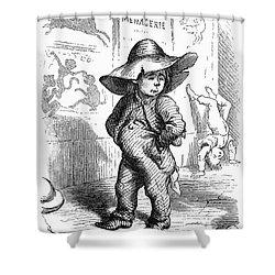 Children: Types Shower Curtain by Granger
