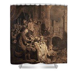 Christ Before Pilate Shower Curtain by Granger