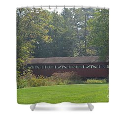 Covered Bridge Shower Curtain by Randy J Heath