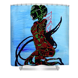 Dinka Bride - South Sudan Shower Curtain by Gloria Ssali