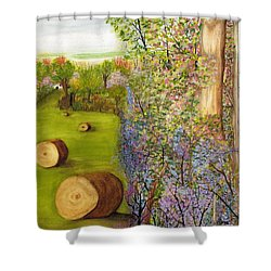 Dogwoods And Redbuds Shower Curtain