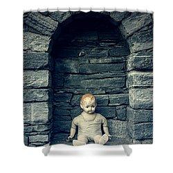 Doll Shower Curtain by Joana Kruse