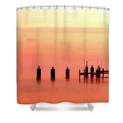 Shower Curtain featuring the photograph Eery Morn by Clayton Bruster