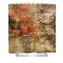 Entropy Shower Curtain by Christopher Gaston