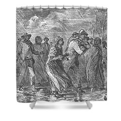 Escaping To Underground Railroad Shower Curtain by Photo Researchers