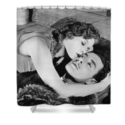 Flesh And The Devil, 1927 Shower Curtain by Granger