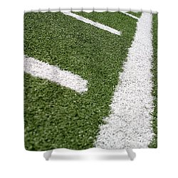 Shower Curtain featuring the photograph Football Lines by Henrik Lehnerer