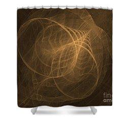 Fractal Image Shower Curtain by Ted Kinsman