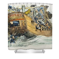 Grover Cleveland Cartoon Shower Curtain by Granger