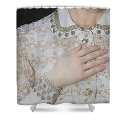 Hand Shower Curtain by Joana Kruse