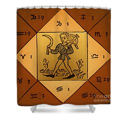 Horoscope Types, Engel, 1488 Shower Curtain by Science Source