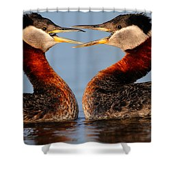 In Your Face Shower Curtain